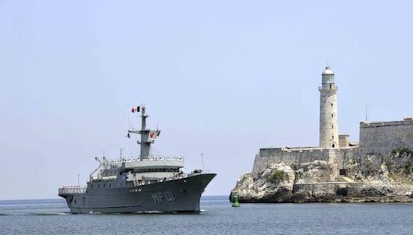 """Visita del buque Multipropósito MP-01 """"Huasteco"""", de la Armada de los Estados Unidos Mexicanos, en La Habana, el 9 de julio de 2014. AIN FOTO/Marcelino VAZQUEZ HERNANDEZ"""