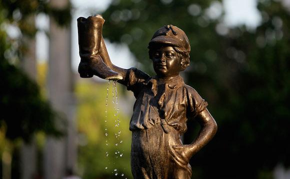 El niño de la bota afortunada. Foto: Ladyrene Pérez/ Cubadebate.