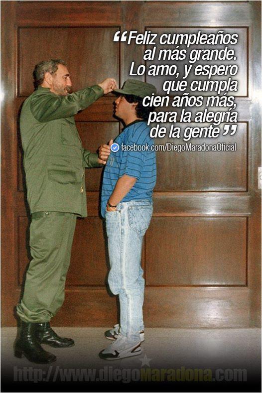 La imagen que subió Maradona a su página en Facebook.