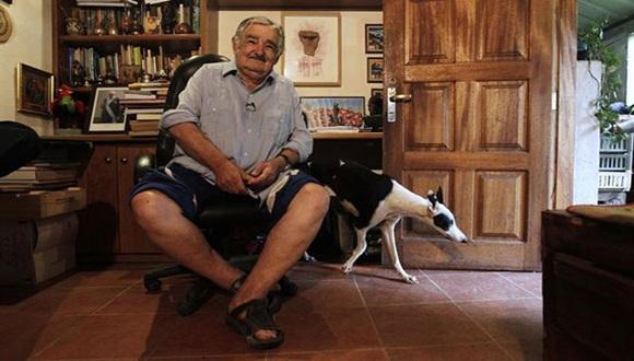 El presidente de Uruguay, José Mujica, en su casa de Montevideo. Foto / Europa Prees.