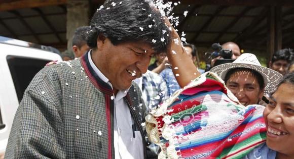 Evo gana las elecciones en Bolivia.