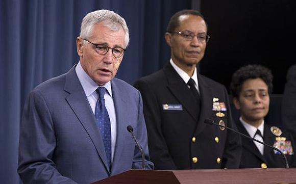 Secretario de defensa de EEUU, Chuck Hagel. Foto: AP