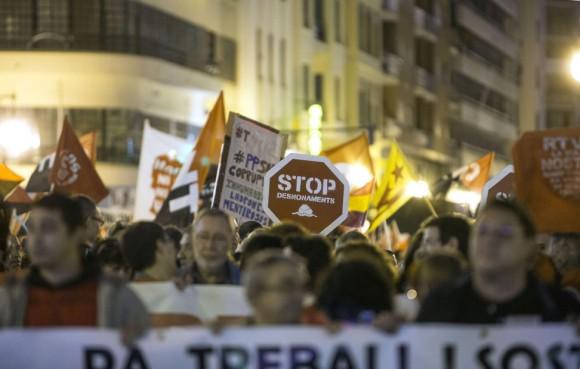 Las Marchas de la Dignidad este sábado. Foto: EFE