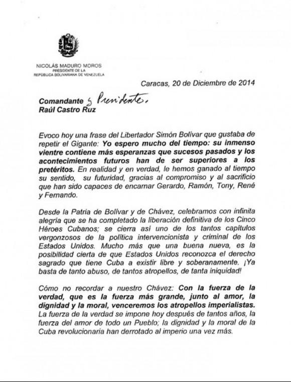 Cartas de Maduro a Fidel y Raúl3