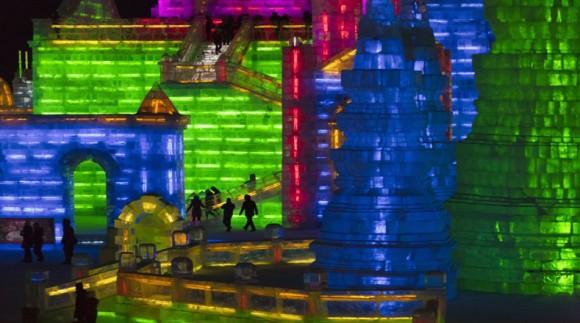 festival del hielo en China