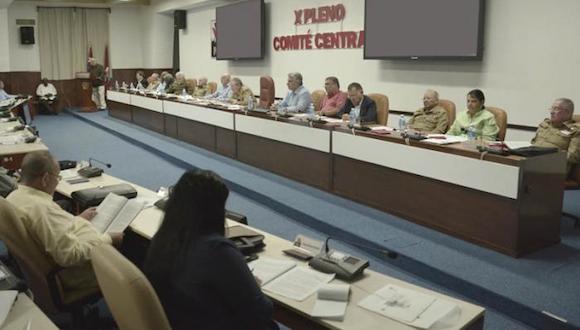 X Pleno del Comité Central del Partido Comunista Cuba. Foto: Granma