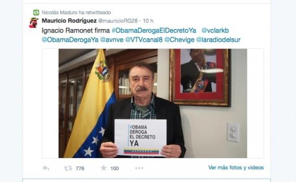 Ramonet apoyó la campaña mundial.