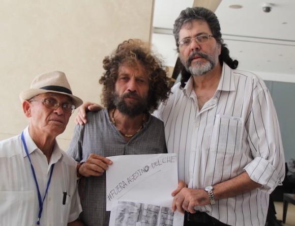 El Reverendo Raúl Súarez, Joel Suárez y Abel Prieto. Foto: David Vázquez