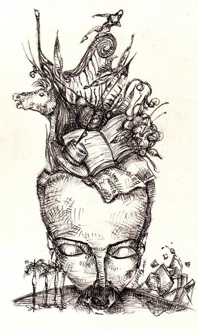 """Esta plumilla de Miguel Alexis Machado Valdés (1977-2003) recuerda la profecía de Martí en carta en versos a su amigo uruguayo Enrique Estrázulas: """"¡Que ya verán mi cabeza/ Por sobre mi sepultura!"""""""