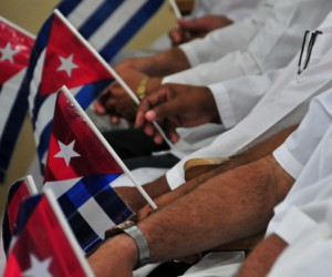Homage in Ecuador to Cuban doctors victims of quake
