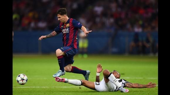 Messi en el Barca-Juventus  en la Final de la Champions, 6 de junio de 2015. Foto: AFP