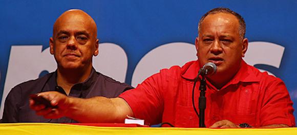 """El dirigente del PSUV, Diosdado Cabello, indicó en rueda de prensa:""""Hoy escuchando el mandato del pueblo se hicieron una es eelcciones rprimarias que nos llenan de mucha satisfacción, y podemos anunciarle al mundo casi con el 100% de los votos ya tenemos lo candidatos ganadores en toda venezuela, menos en el estado Delta Amacuro."""
