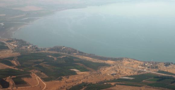 Vista del Mar de Galilea.