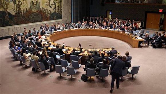 Miembros del Consejo de Seguridad durante una votación en la sede de Naciones Unidas. Foto: AP