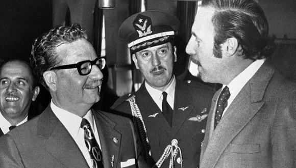 Allende y Letelier, cuando este último se desempeñaba como embajador de Chile en Washington. Foto: Tomada de http://www.bbc.com