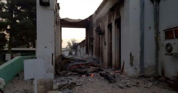 """El hospital fue bombardeado por """"error"""". Foto: AFP."""