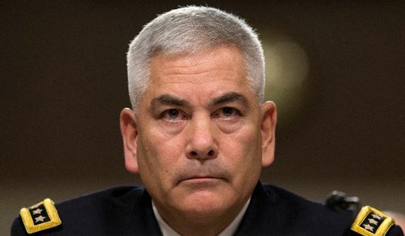 El general John Campbell comparece ante la comisión de fuerzas armadas del Senado. Foto: AP.