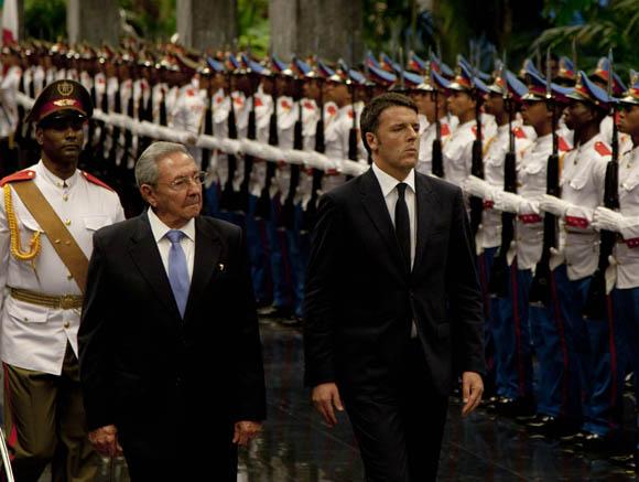 Recibe Raúl Castro a Primer Ministro italiano. Foto: Ismael Francisco/Cubadebate