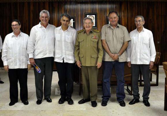 Recibe Raúl a líderes del Partido Progresita chileno. Foto: PL