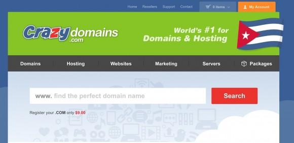 Una de los muchos servicios en EEUU para alojar páginas en Internet destinados al usuario cubano. Registrar un dominio .COM por un año solo cuesta 0,99 centavos.