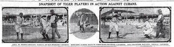 Detroit Tigers en Cuba (1910).