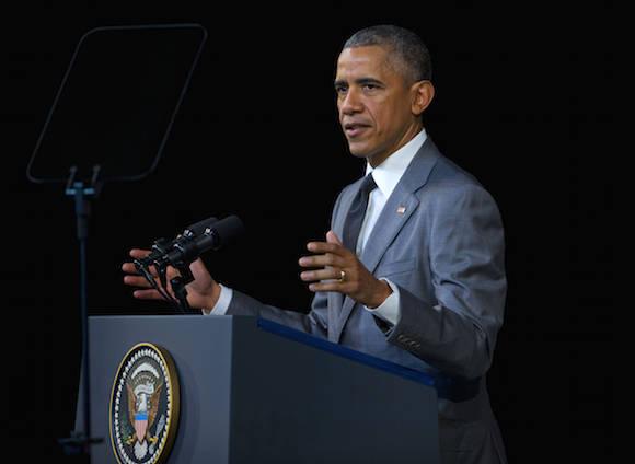 Obama en el Gran Teatro de La Habana. Foto: Pablo Martínez/ AP