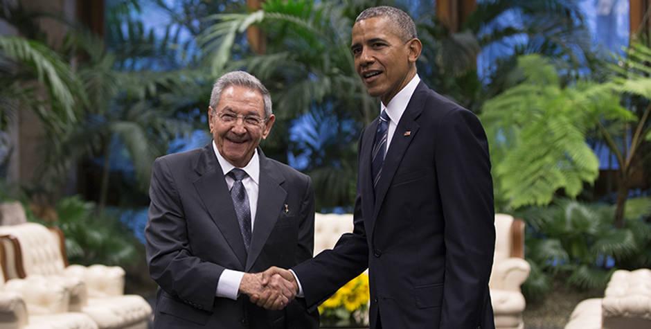 Recibe Raúl a Obama en el Palacio de la Revolución: Sostienen conversaciones bilaterales (+ Fotos y Video)