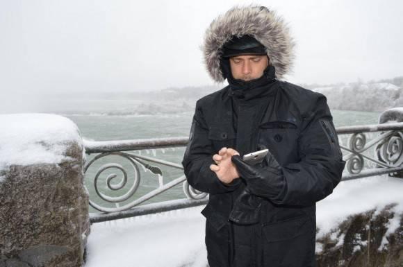 Gerardo llama desde el Niágara congelado