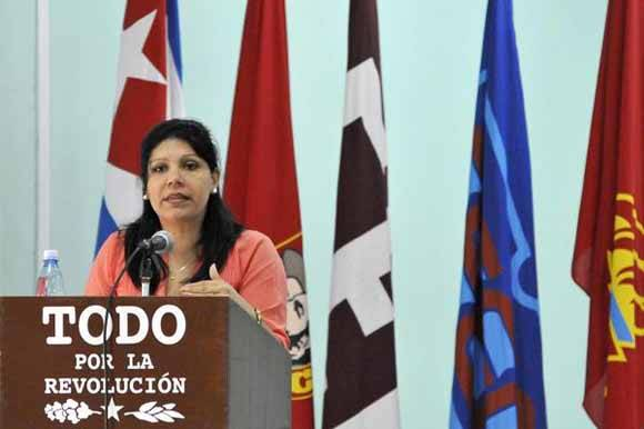 Yuniasky Crespo Baquero, primera secretaria del Comité Nacional de la Unión de Jóvenes Comunistas (UJC). Foto: AIN/ Roberto Morejón Rodríguez/ Archivo.