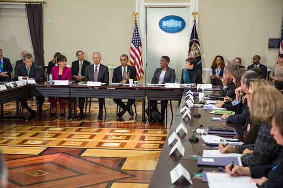 El Consejo de Exportación de Obama le pide a la administración y al Congreso trabajar de conjunto para la derogación del bloqueo hacia Cuba. Foto. Chuck Kennedy/ Casa Blanca.