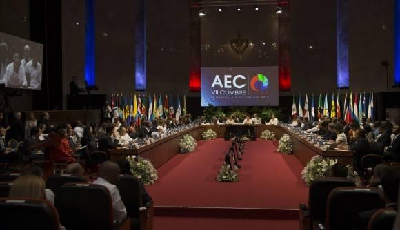 VII Cumbre de la Asociación de Estados del Caribe (AEC), en segmento oficial, desde el Palacio de la Revolución en La Habana. Foto: Ismael Francisco/ Cubadebate
