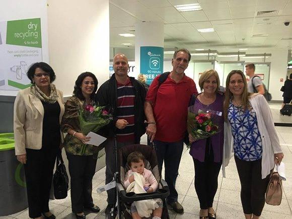 René y Gerardo llegaron a la Gran Bretaña el pasado 9 de julio. Foto: Cuba Solidarity Campaing/ Facebook.