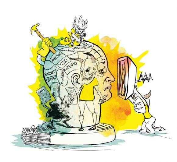Guerra psicológica. Imagen tomada de ecopopularve.wordpress.com