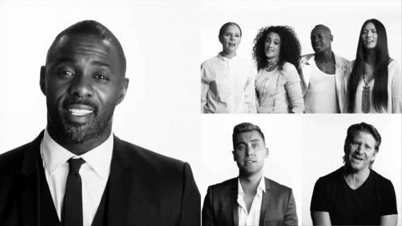 A la izquierda, el actor británico Idris Elba en el videoclip. Foto tomada de YouTube.