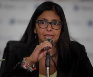 Canciller de Venezuela, Delcy Rodríguez. Foto: Archivo.