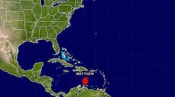 Huracán Matthew amenaza a Cuba