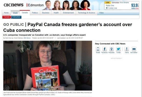 Pareja de canadienses afectadas por PayPal bloqueo