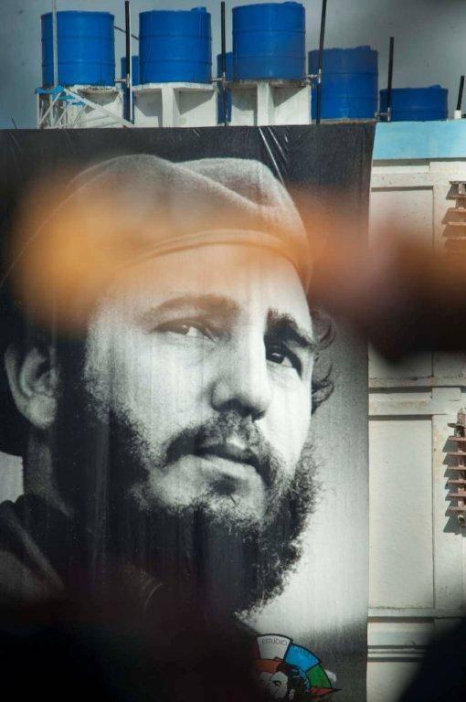 La imagen de Fidel imponente en el Concierto. Silvio en el Combinado del Este, 14 de octubre 2016. Foto: Iván Soca