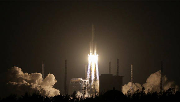 China lanza su cohete más potente. Foto: China Daily / Reuters.