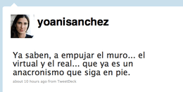 Yoani Sánchez en Twitter