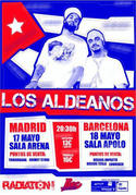 Cartel de la presentación de Los Aldeanos en Madrid
