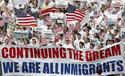 Manifestación a favor de los inmigrantes en Estados Unidos