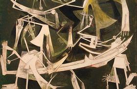 El Tercer Mundo, de Wifredo Lam. Óleo sobre tela realizado en 1965