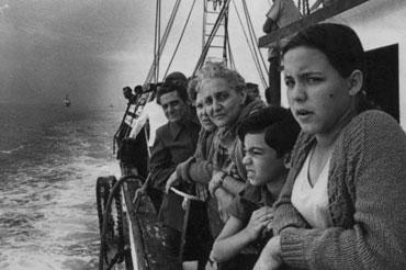 Exiliados cubanos durante el éxodo del Mariel