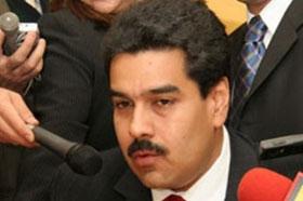 """El Canciller venezolano, Nicolás Maduro, se vio obligado a pedir disculpas por llamar """"mariconsones"""" a los opositores"""