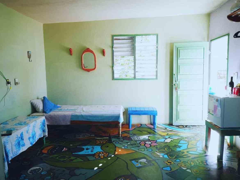 The green room har plass til tre personer