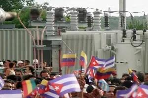 Banderas de Cuba, Venezuela y Bolivia frente a los Grupos electrógenos_internet