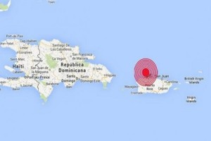 Terremoto mapa Puerto Rico Dominicana