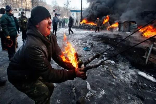 Ucrania manifestante antigubernamental