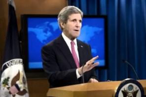John Kerry durante el informe anual sobre derechos humanos del Departamento de Estado (Foto tomada de internet)